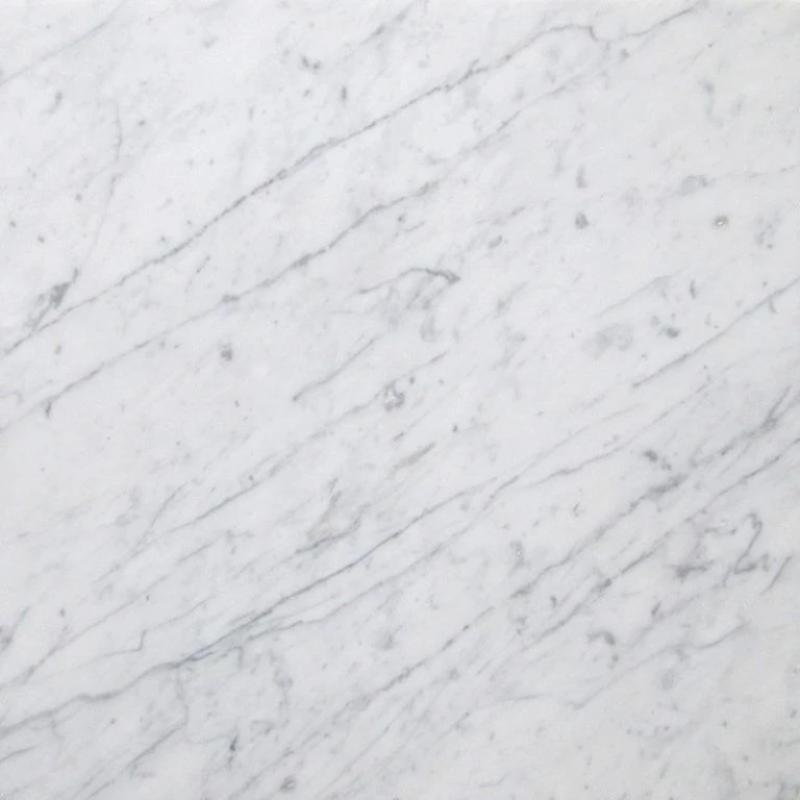 White Carrara Marble 18x18 Honed Marble Tile - TILE AND MOSAIC DEPOT