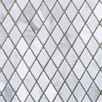White Carrara Marble Polished 1x2 Diamond Mosaic Tile - TILE AND MOSAIC DEPOT