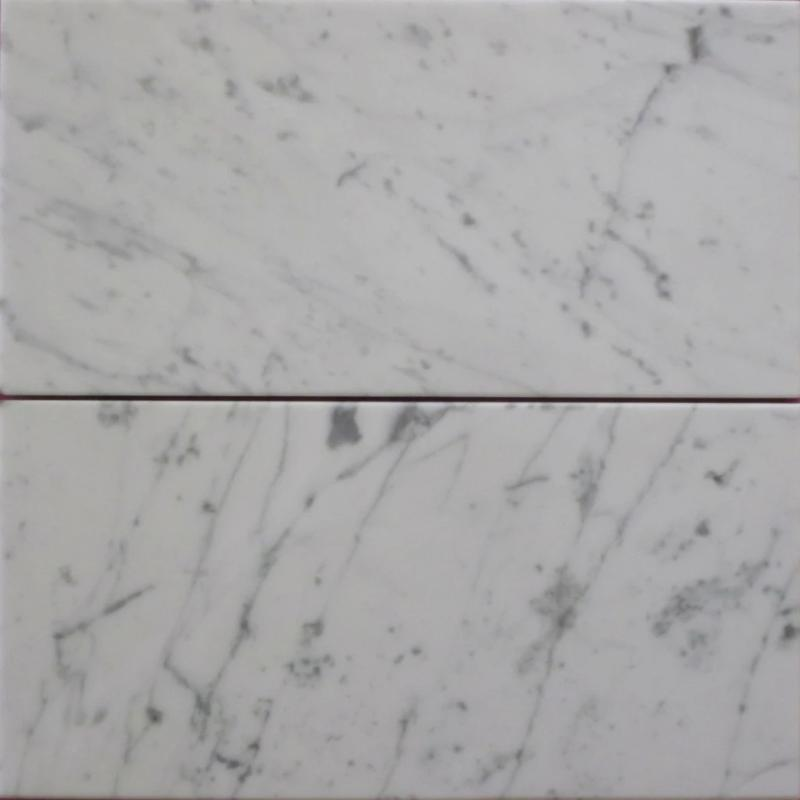 White Carrara Marble 6x12 Honed Tile - TILE AND MOSAIC DEPOT