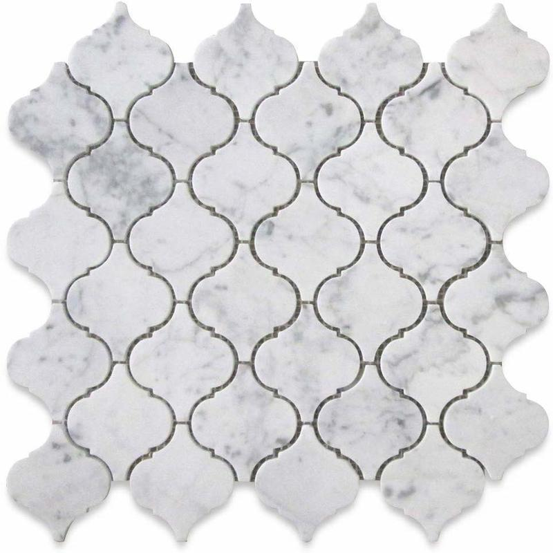White Carrara Marble Lantern Polished Mosaic Tile - TILE AND MOSAIC DEPOT