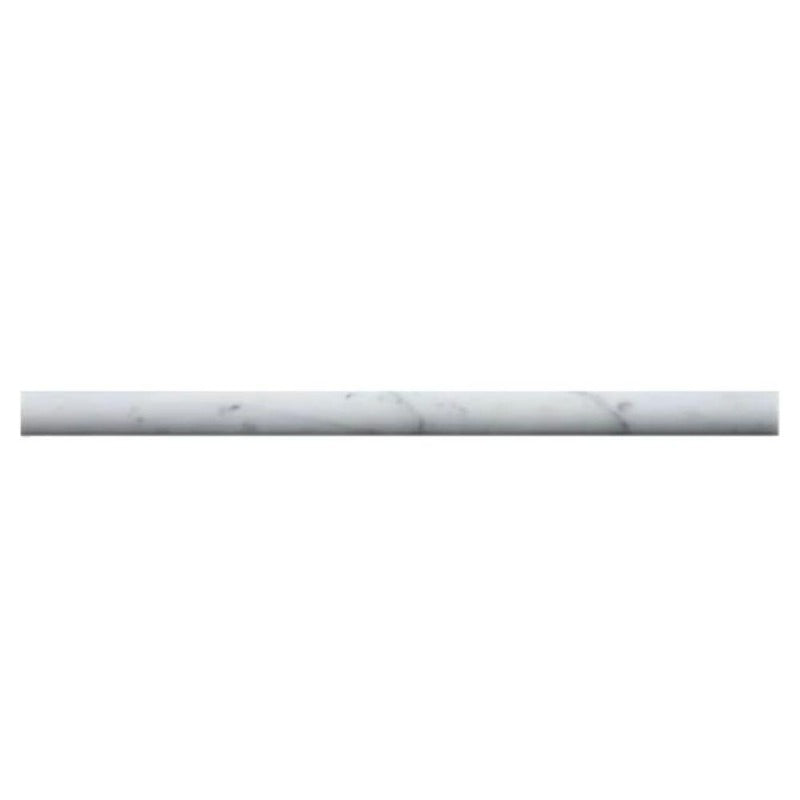 White Carrara Marble 3/4x12 Polished Pencil Liner - TILE AND MOSAIC DEPOT