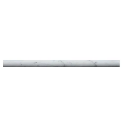 White Carrara Marble 3/4x12 Honed Pencil Liner - TILE AND MOSAIC DEPOT