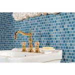 Carribean Reef 1X1 Staggered Glass Mosaic Tile - TILE AND MOSAIC DEPOT