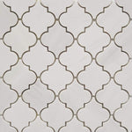 Dolomite Pearl Marble Lantern (Arabesque) Polished Mosaic Tile - TILE AND MOSAIC DEPOT