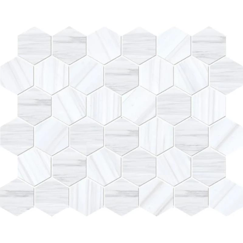 Dolomite Pearl Marble 2x2 Hexagon Polished Mosaic Tile - TILE AND MOSAIC DEPOT