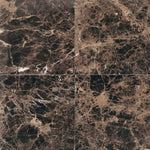 Emperador Dark Spanish Marble 12x12 Polished Tile - TILE AND MOSAIC DEPOT