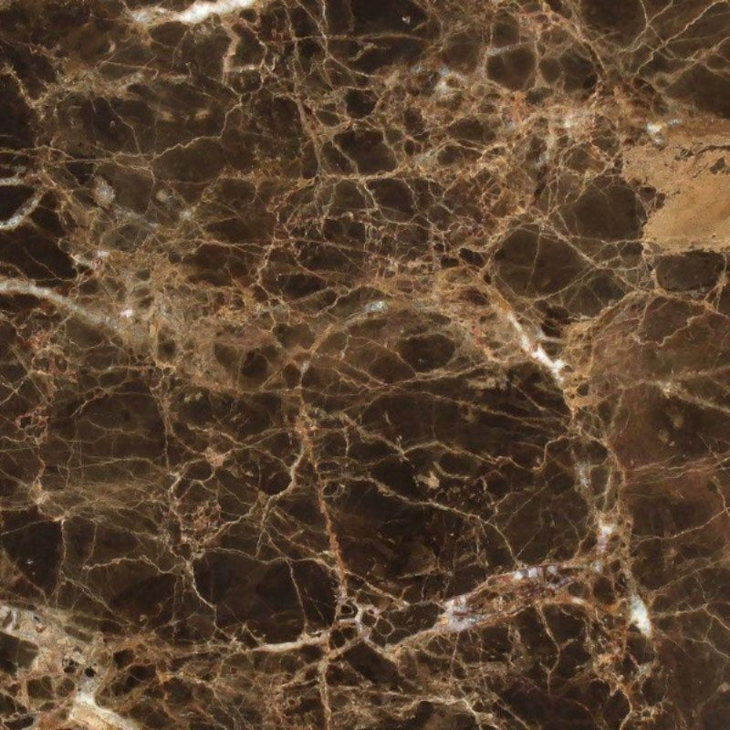 Emperador Dark Spanish Marble 18x18 Polished Tile - TILE AND MOSAIC DEPOT