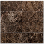 Emperador Dark Spanish Marble 3x6 Polished Tile - TILE AND MOSAIC DEPOT