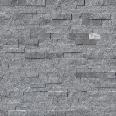 Glacial Gray Marble 6x24 Stacked Stone Ledger Panel - TILE AND MOSAIC DEPOT