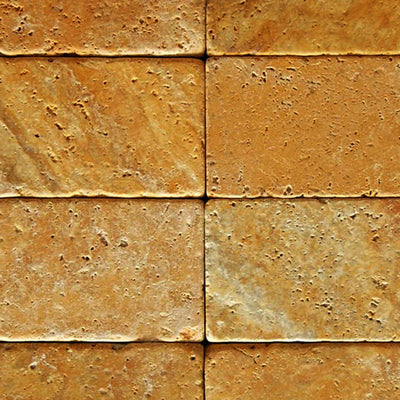 Gold Travertine 3x6 Tumbled Tile - TILE AND MOSAIC DEPOT