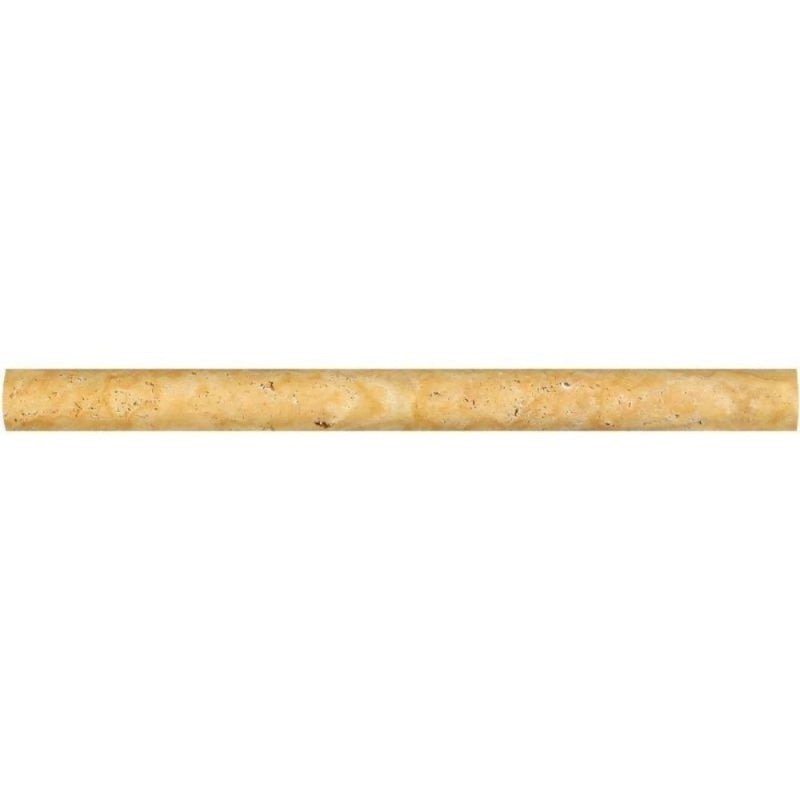 Gold Travertine 3/4x12 Pencil Liner - TILE AND MOSAIC DEPOT