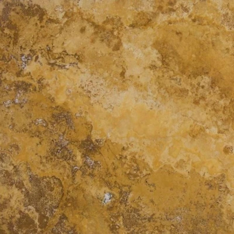 Gold Travertine 18x18 Filled and Honed Tile - TILE AND MOSAIC DEPOT