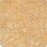 Gold Travertine 6x6 Tumbled Tile - TILE AND MOSAIC DEPOT
