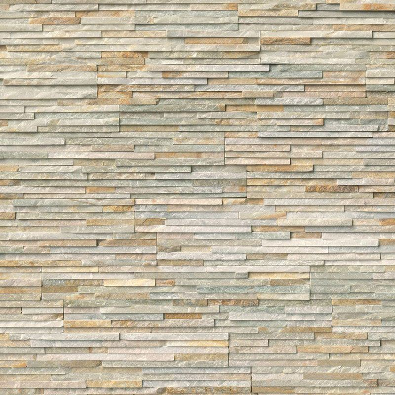 Honey Gold 6x24 Pencil Stacked Stone Ledger Panel - TILE AND MOSAIC DEPOT