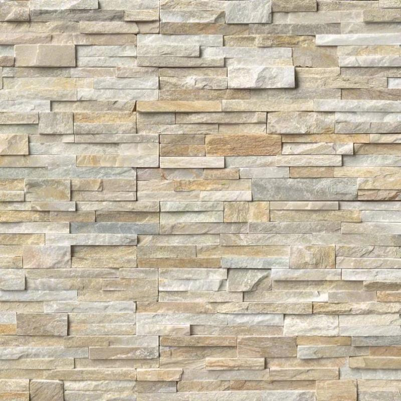 Honey Gold 6x24 Stacked Stone Ledger Panel - TILE AND MOSAIC DEPOT