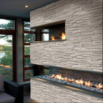 Haisa Light (White Oak) Marble 6X18 3D Design Stacked Stone Ledger Corner - TILE AND MOSAIC DEPOT