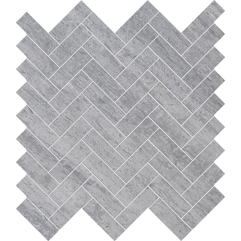 Haisa Blue Marble Herringbone Honed Marble Mosaic Tile - TILE AND MOSAIC DEPOT