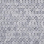Haisa Blue Marble 2x2 Hexagon Honed Mosaic Tile - TILE & MOSAIC DEPOT