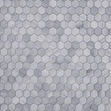 Haisa Blue Marble 2x2 Hexagon Honed Mosaic Tile - TILE AND MOSAIC DEPOT