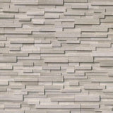 Haisa Dark (Gray Oak) Marble 3D 6x24 Stacked Stone Ledger Panel - TILE AND MOSAIC DEPOT
