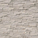 Haisa Light (White Oak) Marble 6x24 Split Face Stacked Stone Ledger Panel - TILE AND MOSAIC DEPOT