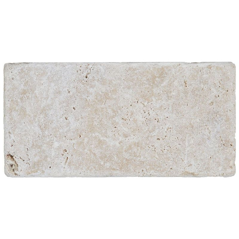 Ivory Travertine 3x6 Tumbled Tile - TILE AND MOSAIC DEPOT