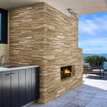 Ivory & Noce Travertine Blend 6x24 Stacked Stone Ledger Panel - TILE AND MOSAIC DEPOT