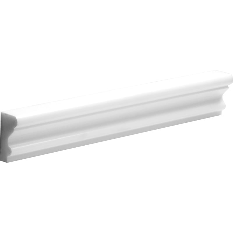 Mont Blanc White 2x12 Marble Polished Crown Molding - TILE AND MOSAIC DEPOT