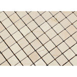 Crema Marfil Marble 1x1 Polished Mosaic Tile - TILE AND MOSAIC DEPOT