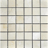 Crema Marfil Marble 2x2 Polished Mosaic Tile - TILE AND MOSAIC DEPOT