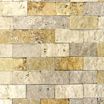 Mixed Travertine 2x4 Split Face Mosaic Tile - TILE AND MOSAIC DEPOT
