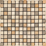 Mixed Travertine 1x1 Tumbled Mosaic Tile - TILE AND MOSAIC DEPOT