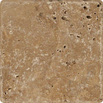 Noce Travertine 6x6 Tumbled Tile - TILE AND MOSAIC DEPOT