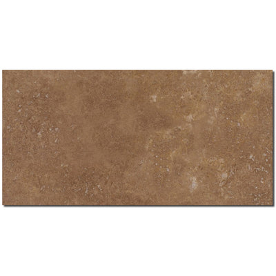 Noce Travertine 12x24 Filled Honed Straight Edge Tile - TILE AND MOSAIC DEPOT