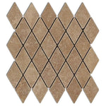 Noce Travertine 2x4 Tumbled Diamond Mosaic Tile - TILE AND MOSAIC DEPOT