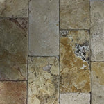 Scabos Travertine 6x12 3cm Tumbled Paver - TILE AND MOSAIC DEPOT