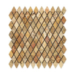Scabos Travertine 1x2 Diamond Tumbled Mosaic Tile - TILE AND MOSAIC DEPOT