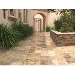 Scabos Travertine 12x12 3cm Tumbled Paver - TILE AND MOSAIC DEPOT