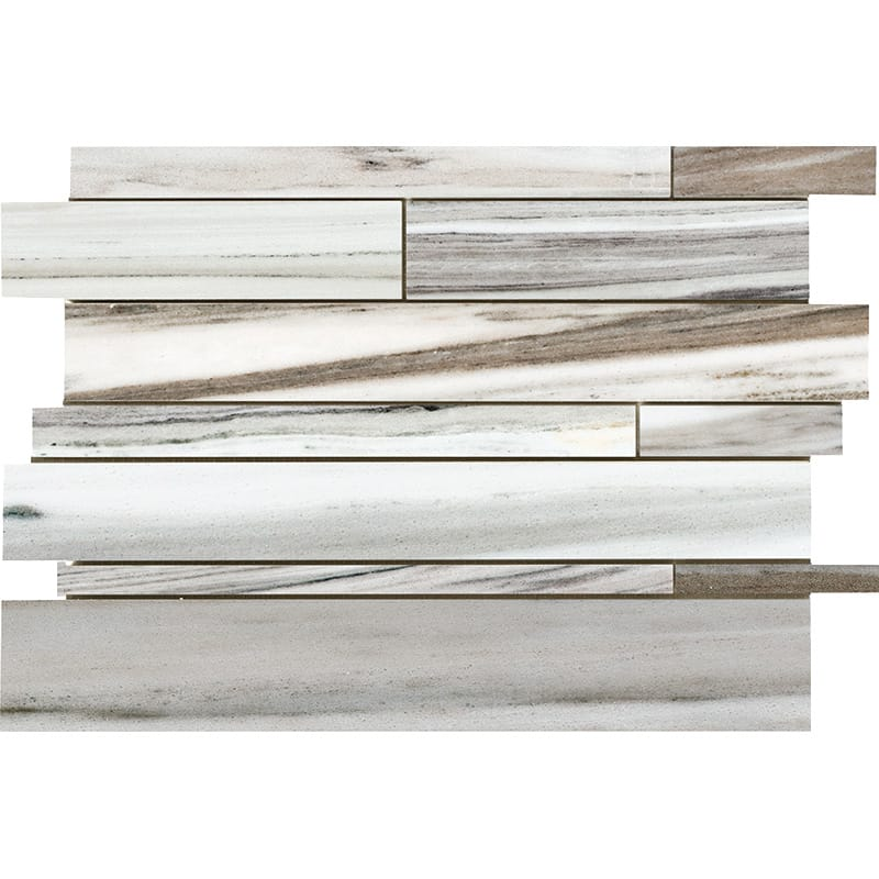 Olympus Cream Marble Random Insert Strip Polished Mosaic Tile - TILE AND MOSAIC DEPOT