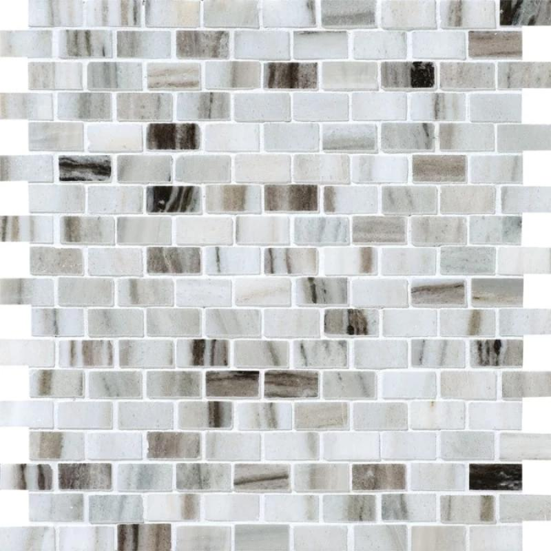 Olympus Cream 5/8x1 1/4 Polished Marble Mosaic Tile - TILE AND MOSAIC DEPOT