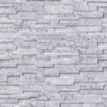Statuario Marble 3D 6x24 Stacked Stone Ledger Panel - TILE AND MOSAIC DEPOT