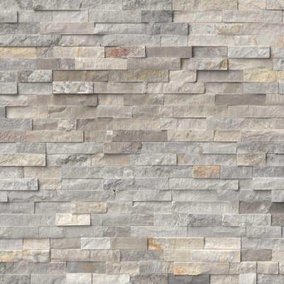 Silver Sunset 6x24 Stacked Stone Ledger Panel - TILE AND MOSAIC DEPOT