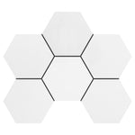 4x4 Thassos White Hexagon Polished Mosaic Tile