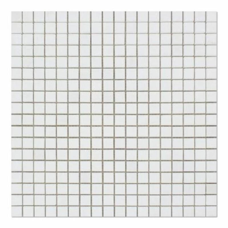 Thassos White Marble 5/8x5/8 Honed Mosaic Tile - TILE AND MOSAIC DEPOT