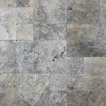Silver Travertine Tumbled Versailles Pattern Tile - TILE AND MOSAIC DEPOT