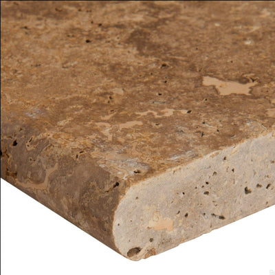 Walnut Travertine 12x24 5cm Tumbled Pool Coping - TILE AND MOSAIC DEPOT