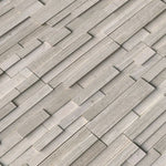 Haisa Light (White Oak) Marble 6X24 3D Design Stacked Stone Ledger Panel - TILE AND MOSAIC DEPOT