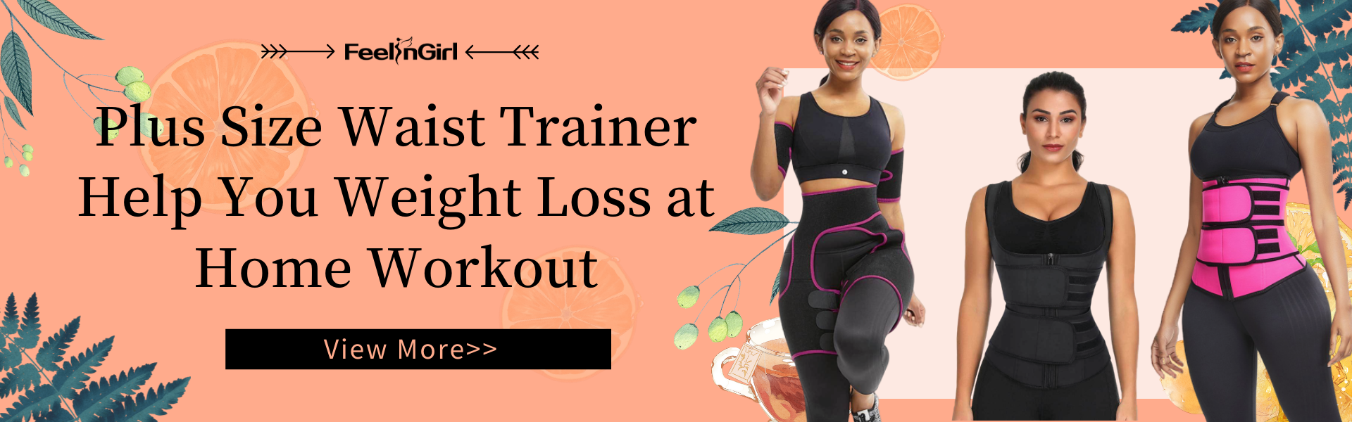 Plus Size Waist Trainer Help You Weight Loss at Home Workout