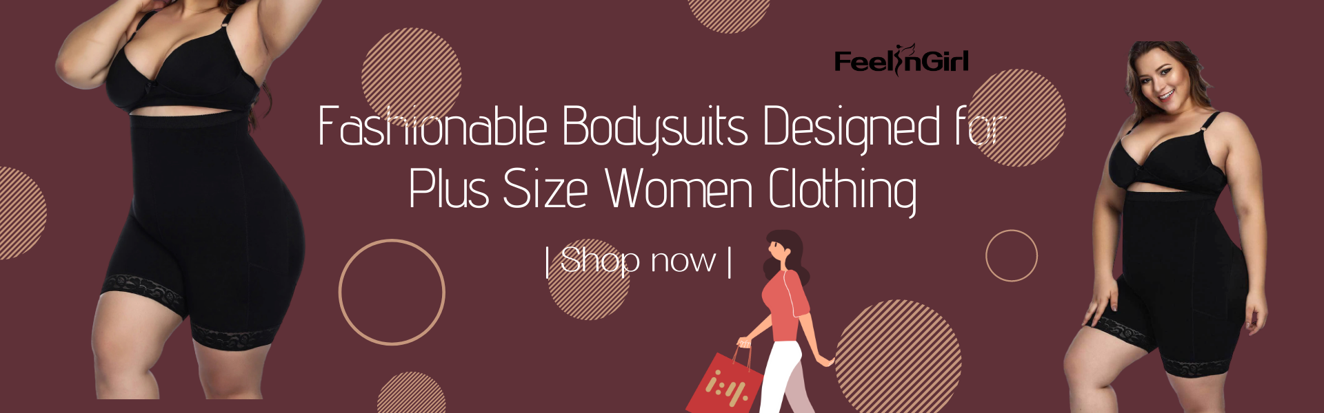 Fashionable Bodysuits Designed for Plus Size Women Clothing
