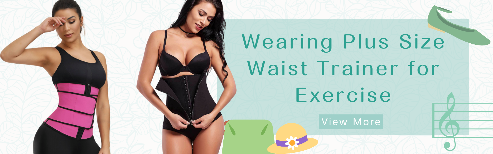 Wearing Plus Size Waist Trainer for Exercise